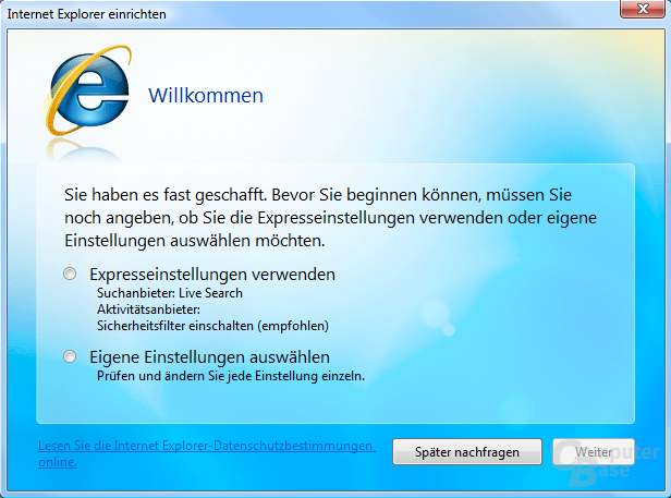 Internet Explorer 8.0 Beta 1 Deutsch