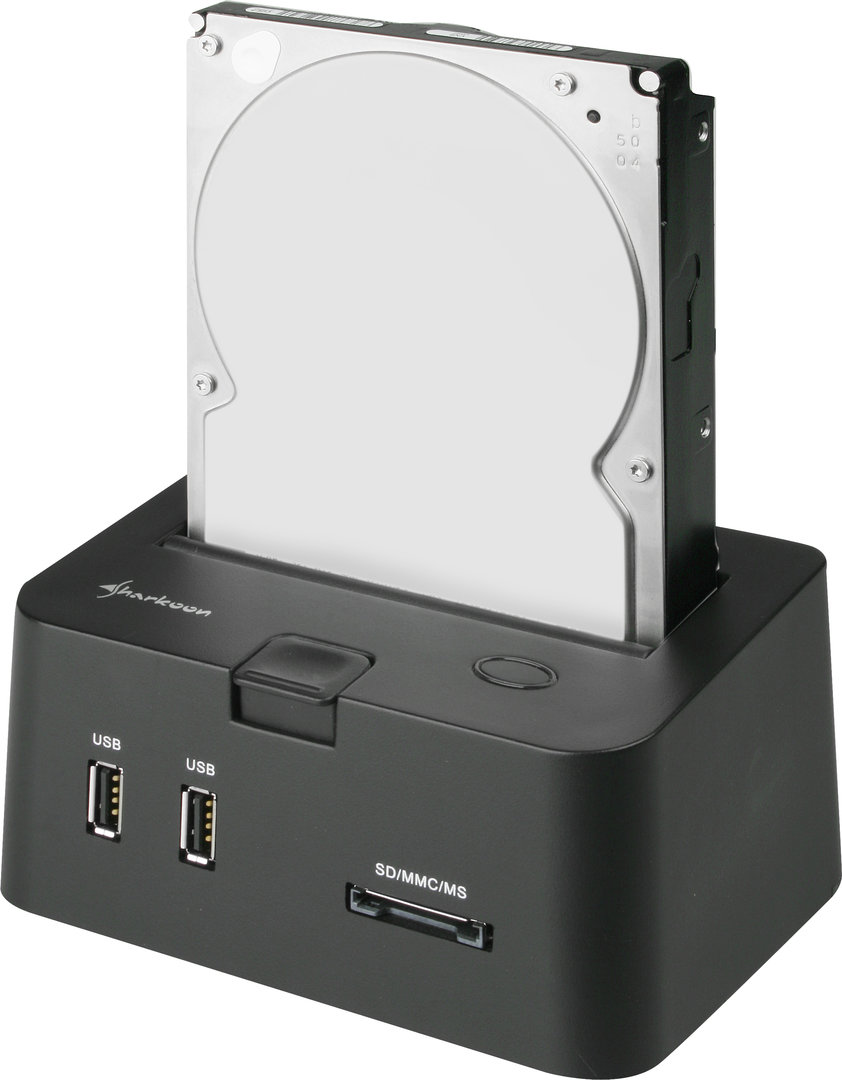 Sharkoon SATA QuickPort PRO mit 3,5-Zoll-Festplatte