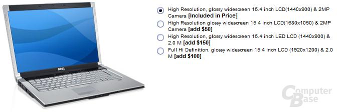 Display-Auswahl für Dells XPS M1530 in den USA