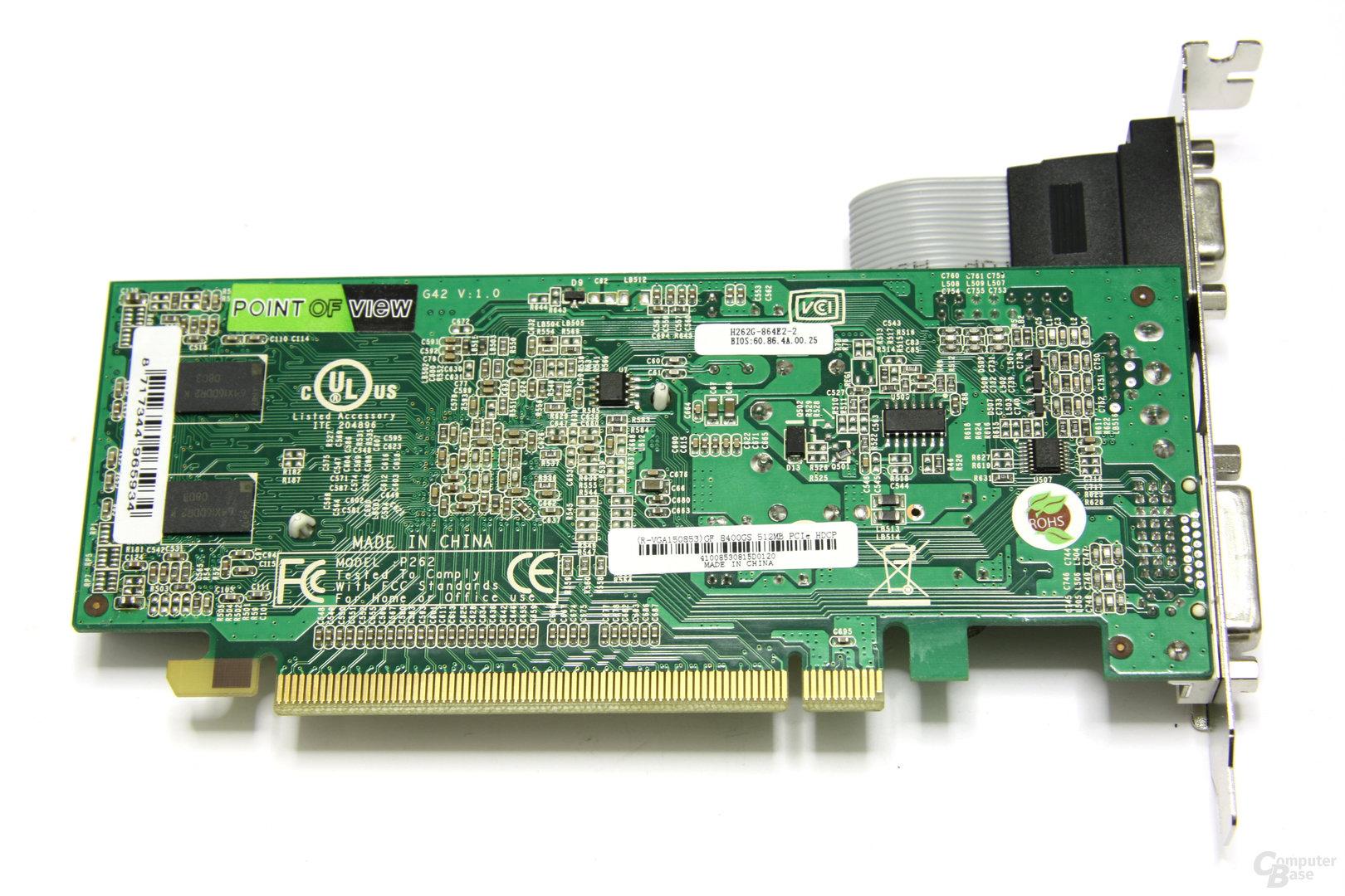 GeForce 8400 GS Rueckseite
