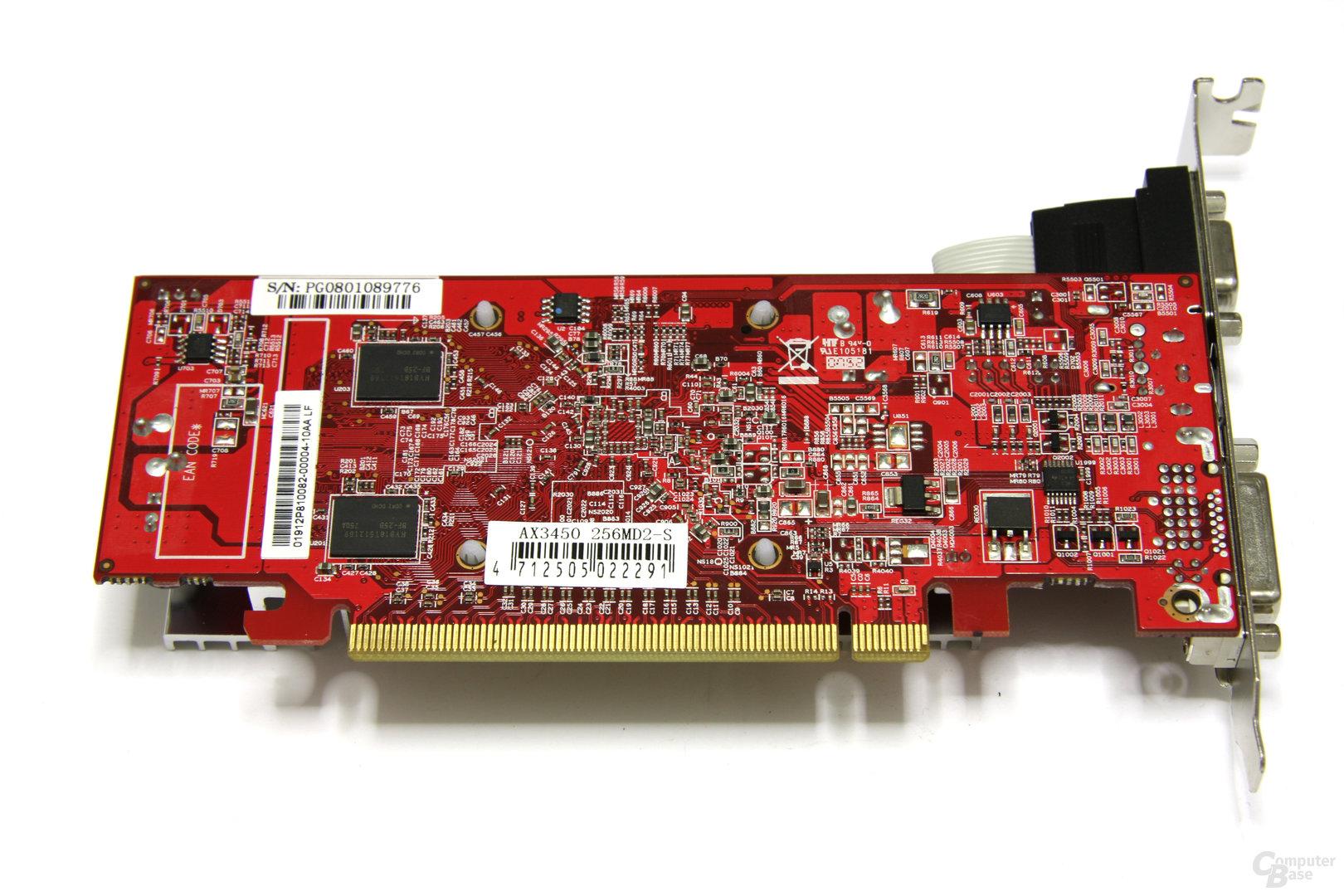 Radeon HD 3450 Rueckseite