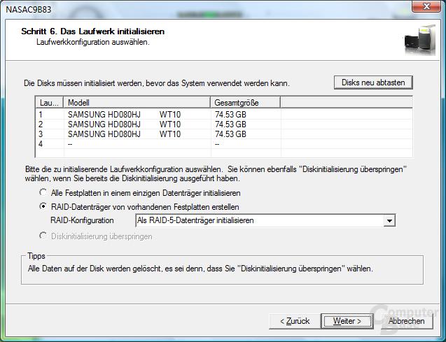QNAP TS-409 Pro – Installation