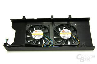 Radeon HD 3850 X2 Kühlerrückseite