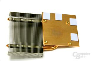 Radeon HD 3850 X2 Kühlerunterseite