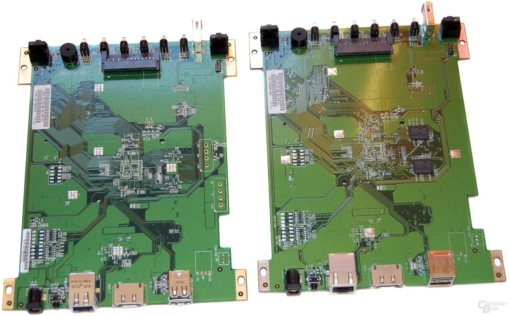 QNAP TS-109 Pro II (rechts) und TS-109 (links)
