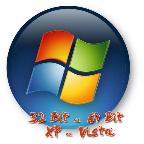 32 Bit gegen 64 Bit – Vista gegen XP
