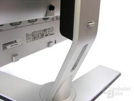 Rückseite Monitorständer mit Kabelführung