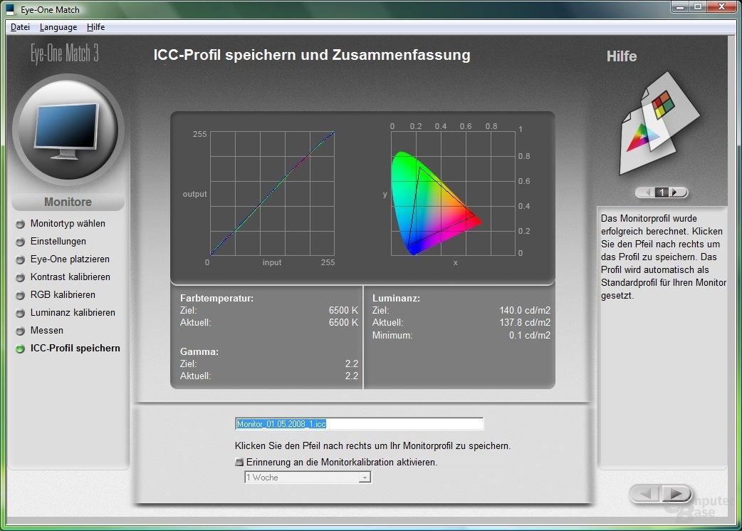 Monitortest mit kalibriertem Dell UltraSharp 2408WFP