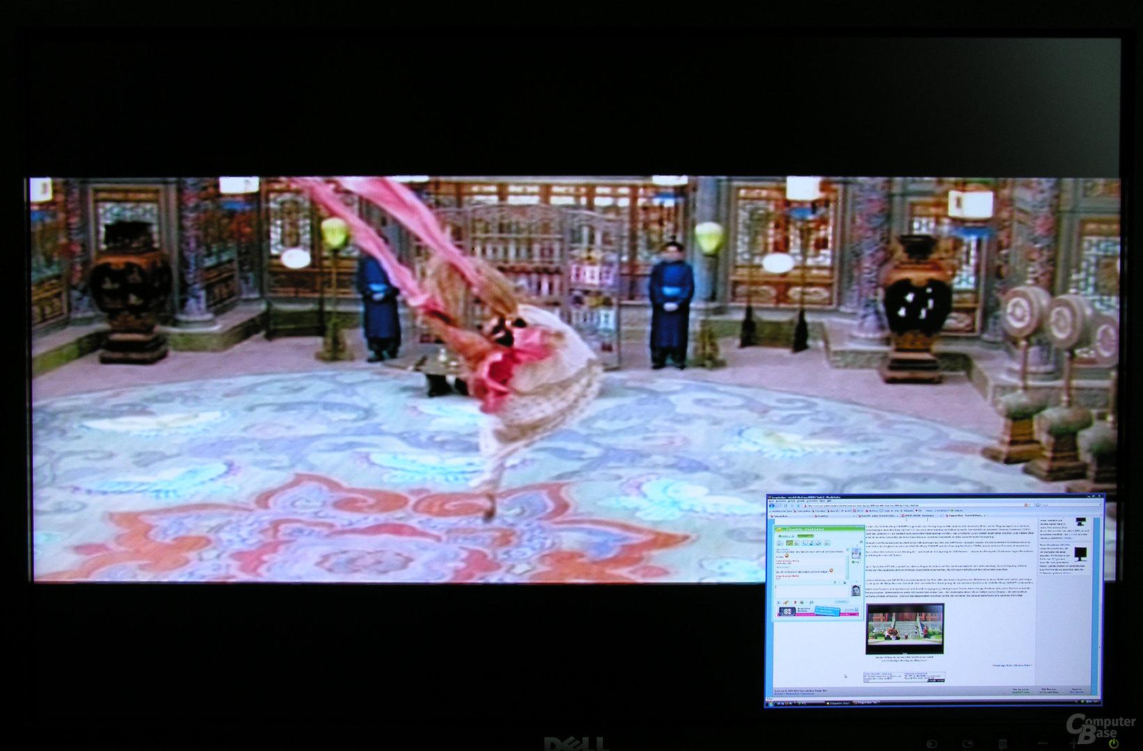 PiP-Modus (S-Video groß - DVI klein)