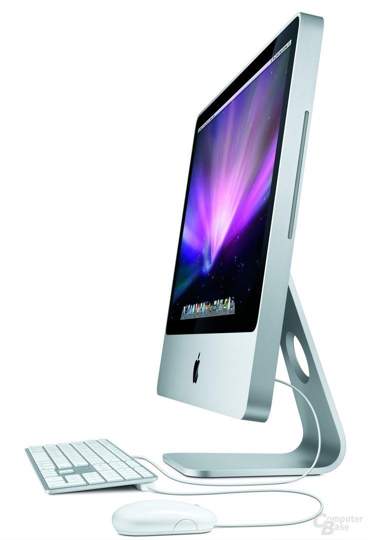 Apple iMac – Seitenansicht mit Zubehör