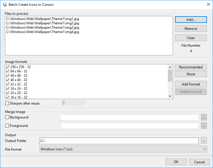 IcoFX – Batch Create Icons or Cursors
