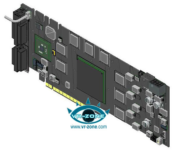 Blue print GeForce 9900 GTX