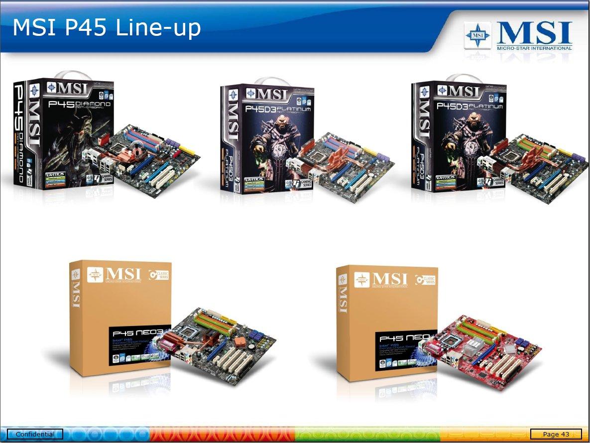 MSIs neue Features der P45-Mainboards