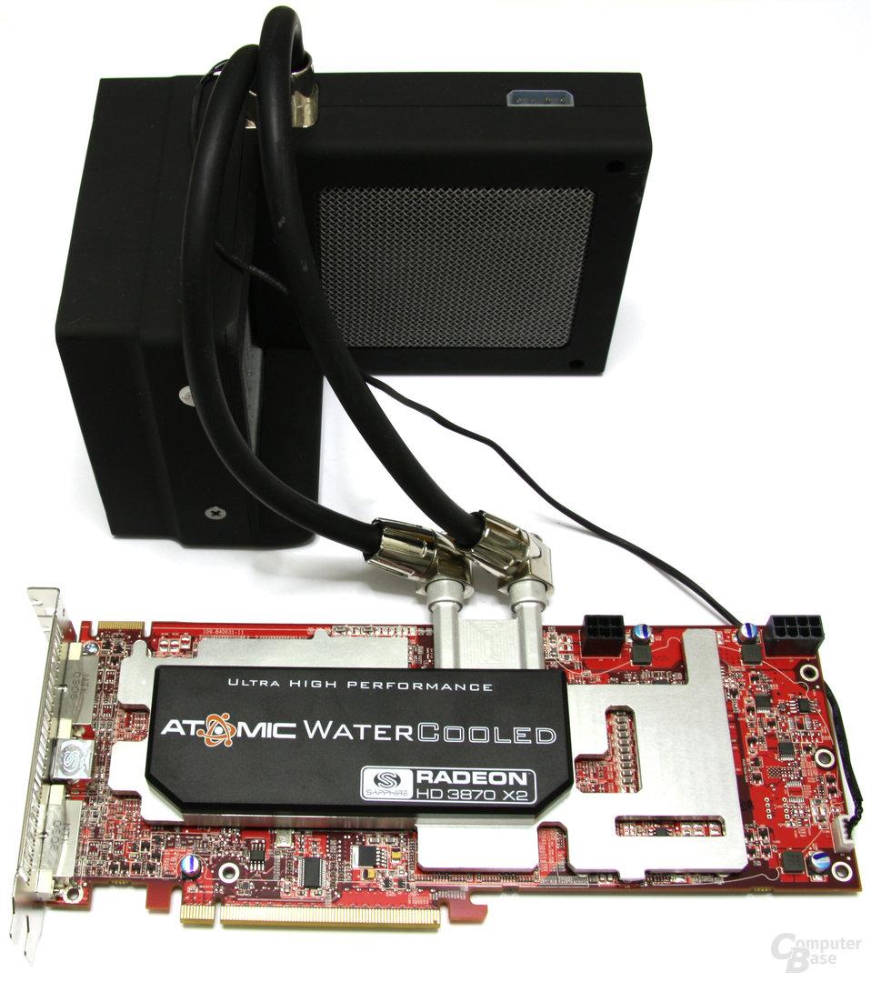 HD 3870 X2 Atomic mit Radiator