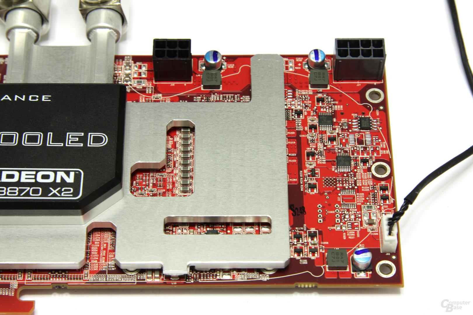 Radeon HD 3870 X2 Atomic Stromanschlüsse