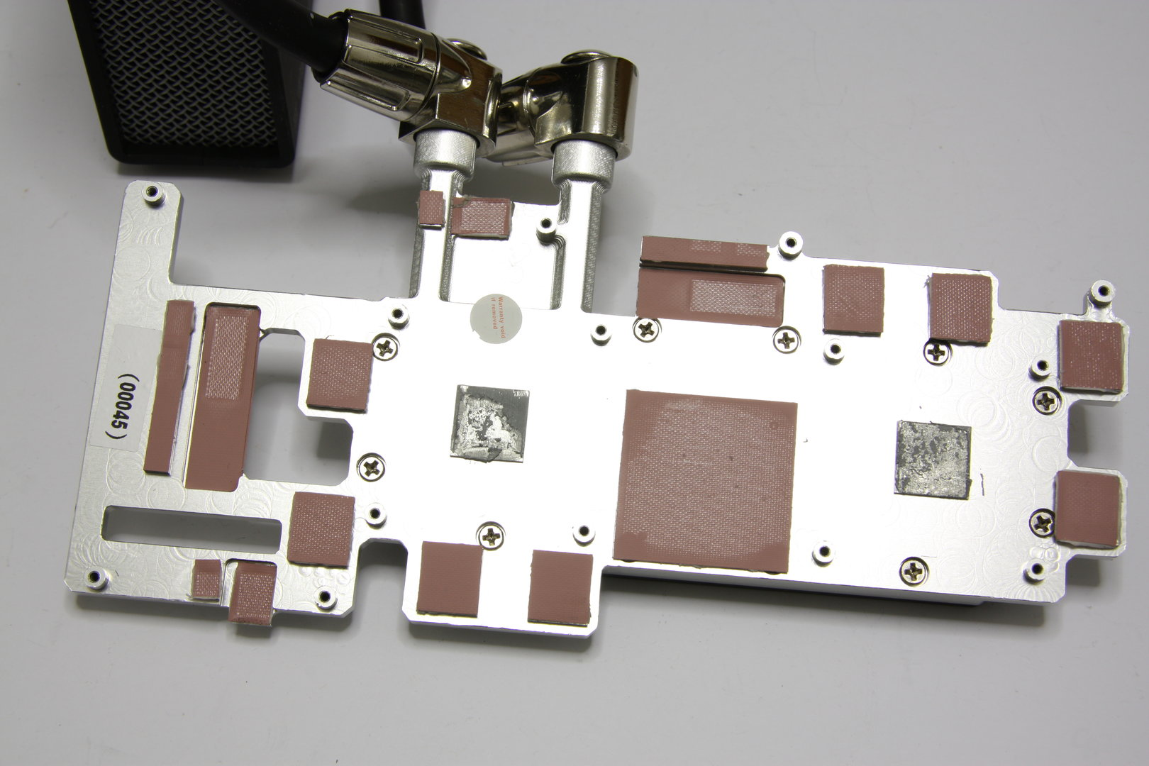 Radeon HD 3870 X2 Atomic Kühlerrückseite