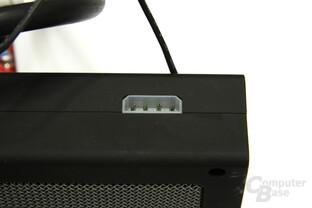Radeon HD 3870 X2 Atomic Radiator Stromanschluss