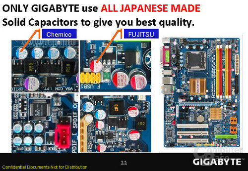 Kondensator-Clinch zwischen Gigabyte und Asus
