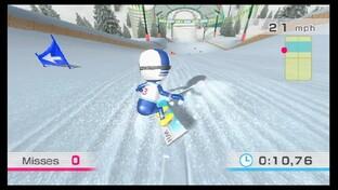 Wii Fit Snowboardslalom