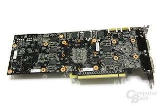 GeForce GTX 280 ohne Kühler Rückseite