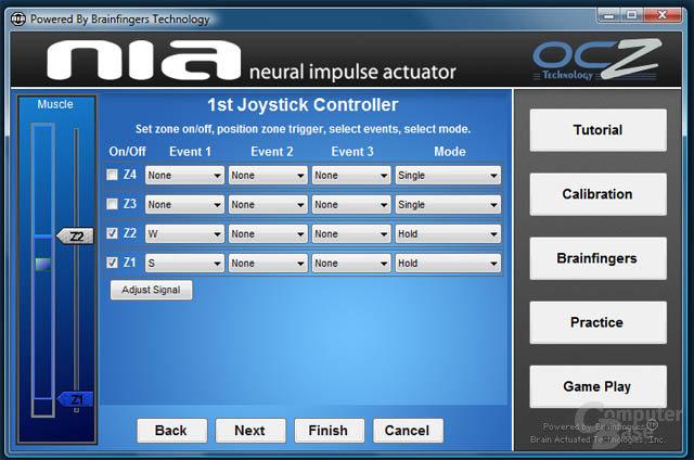 Die notwendige Software zum Neural Impulse Actuator