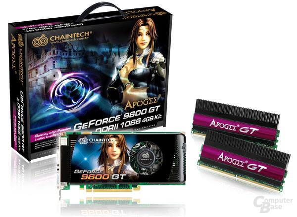 Cahintech-Bundle aus Grafikkarte und DDR2-Speicher
