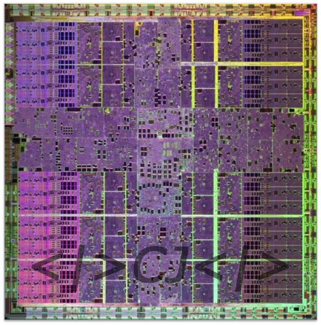 Die-Shot des Nvidia GeForce GTX 280 (GT200)