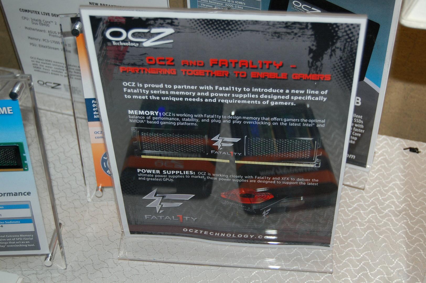 """Angekündigte """"Fatal1ty""""-Produkte von OCZ"""