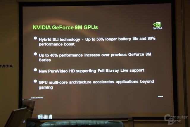 Nvidia GeForce-9M-Serie Computex 2008