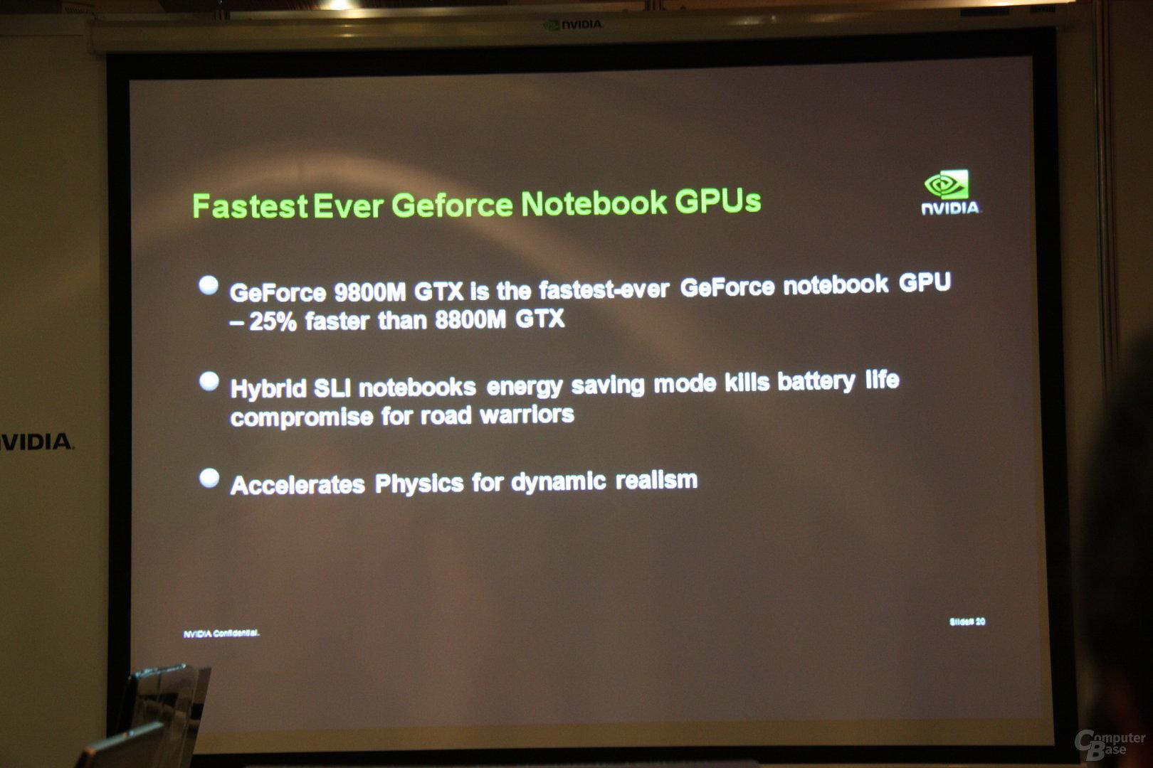 Nvidia GeForce-9M-Serie Computex 2008