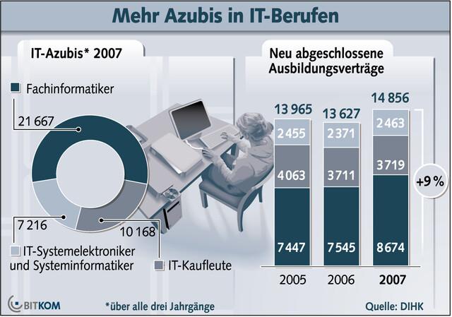 IT-Ausbildungzahlen, Bitkom 06/2008