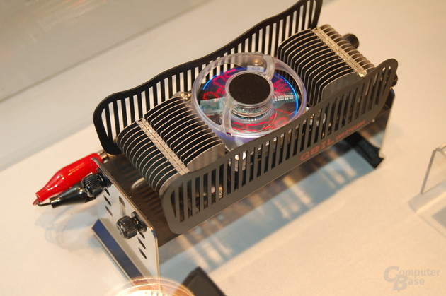 Prototyp des Evo Cyclone Hybrid Cooling Systems