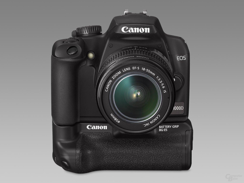 Canon EOS 1000D mit EF-S 18-55mm IS und BG-E5