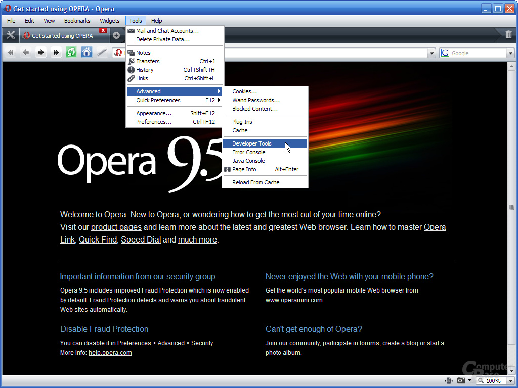 Opera 9.5 – Developer Tools (1)