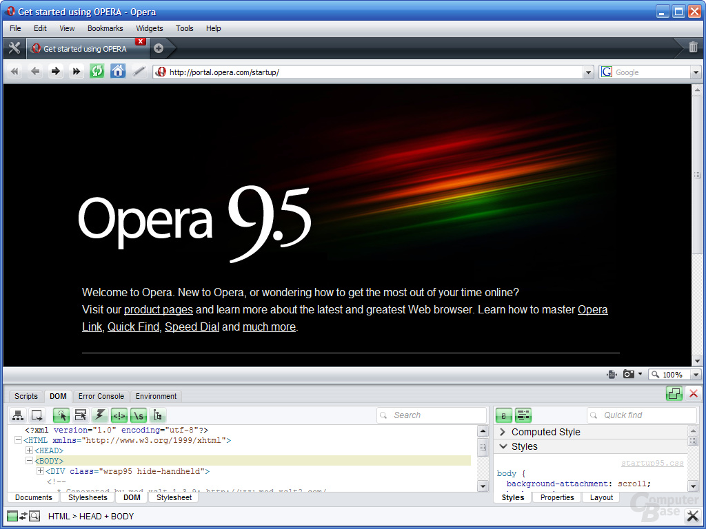 Opera 9.5 – Developer Tools (2)