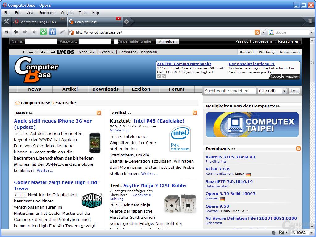 Opera 9.5 – ComputerBase