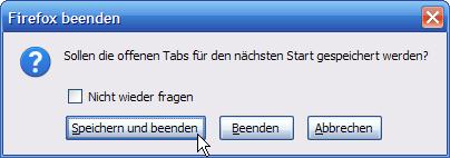 Firefox 3 – Offene Tabs speichern