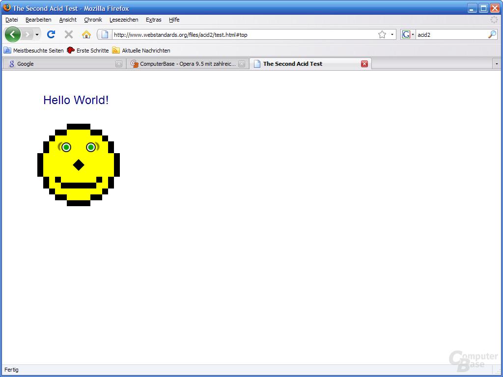 Firefox 3 – Acid2