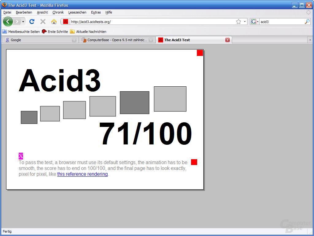 Firefox 3 – Acid3