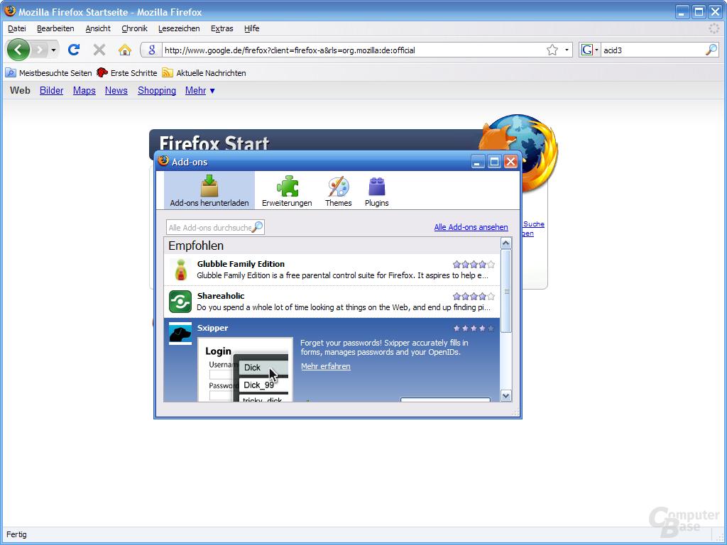 Firefox 3 – Add-ons (1)