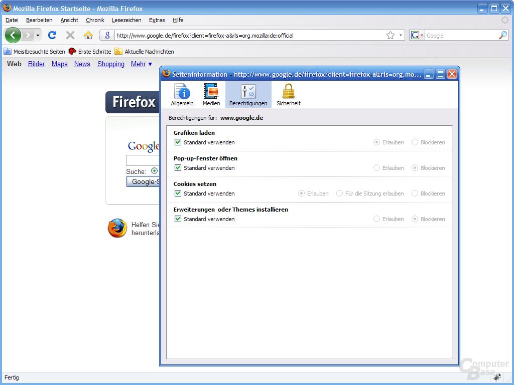Firefox 3 – Seiteninformation (3)