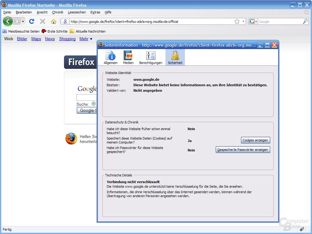 Firefox 3 – Seiteninformation (4)
