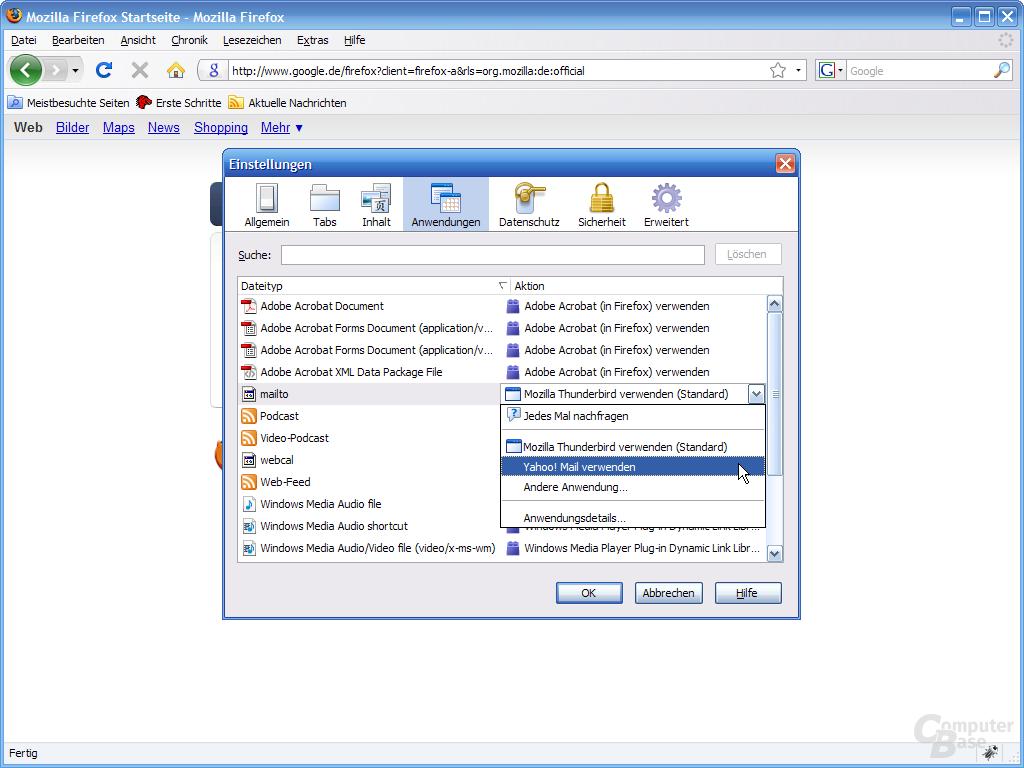 Firefox 3 – Einstellungen (4)
