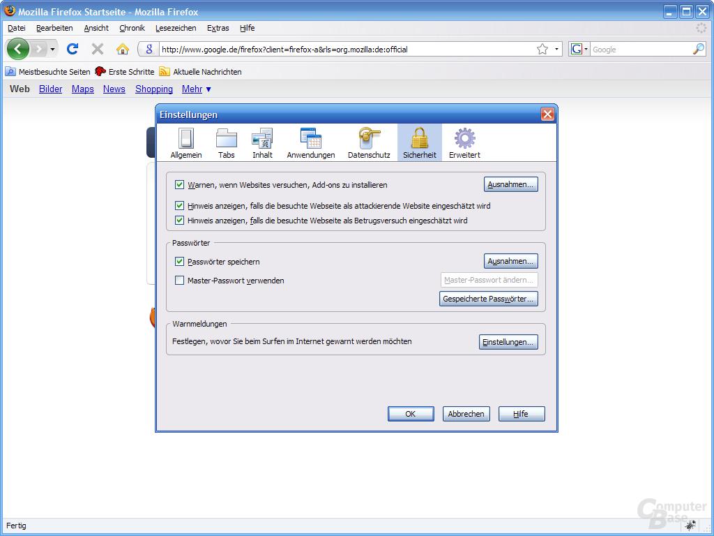 Firefox 3 – Einstellungen (6)