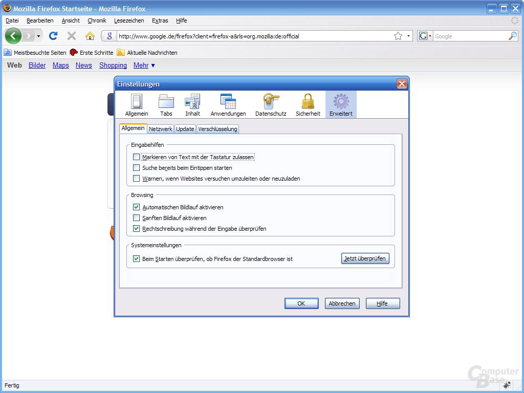 Firefox 3 – Einstellungen (7)