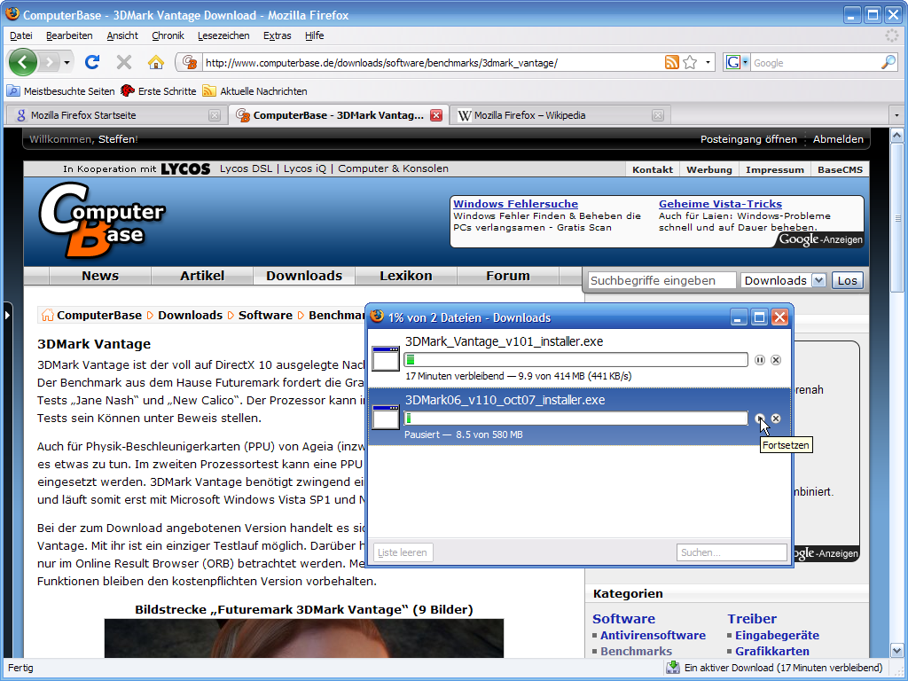 Firefox 3 – Download-Manager