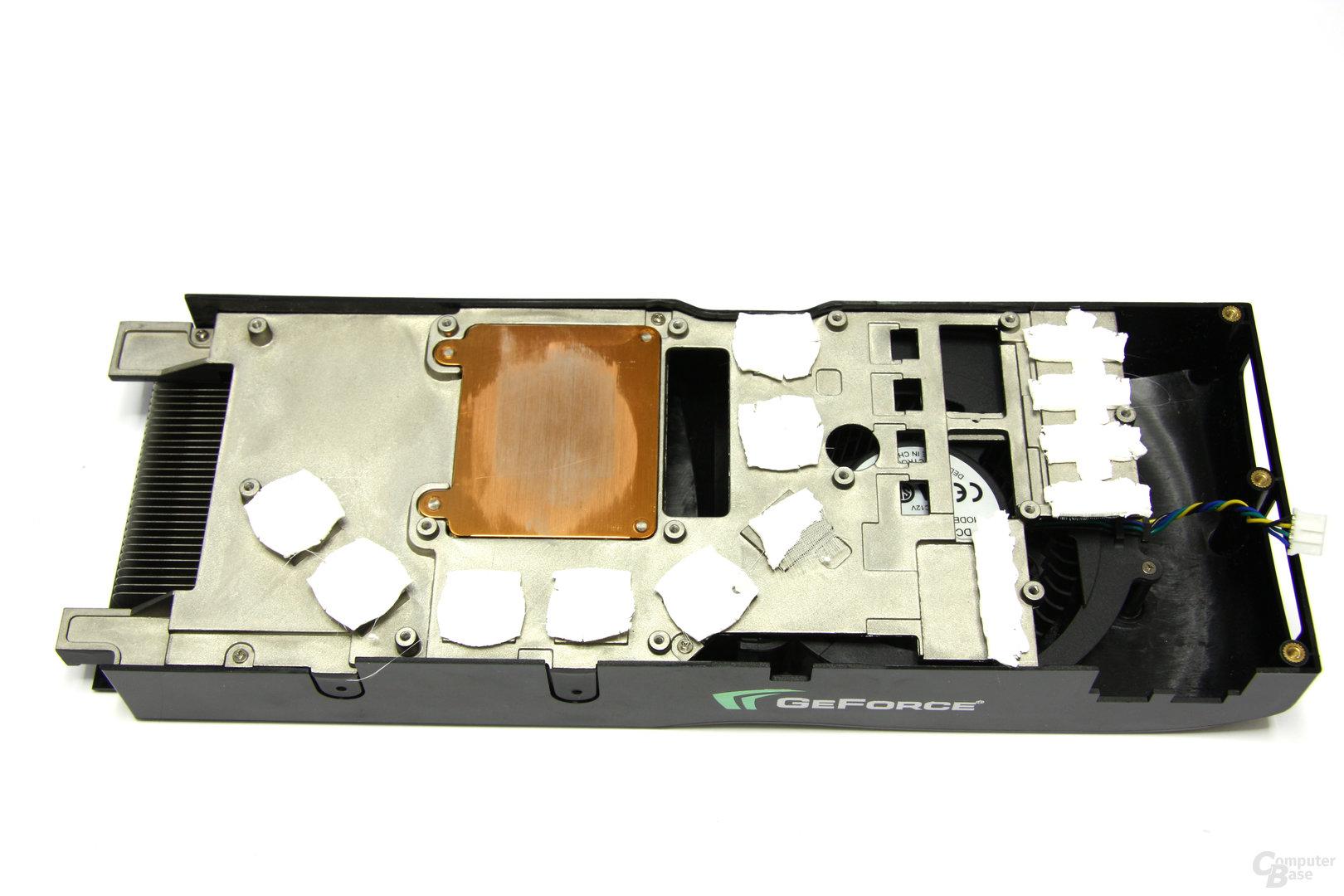 GeForce 9800 GTX+ Kühlerrückseite