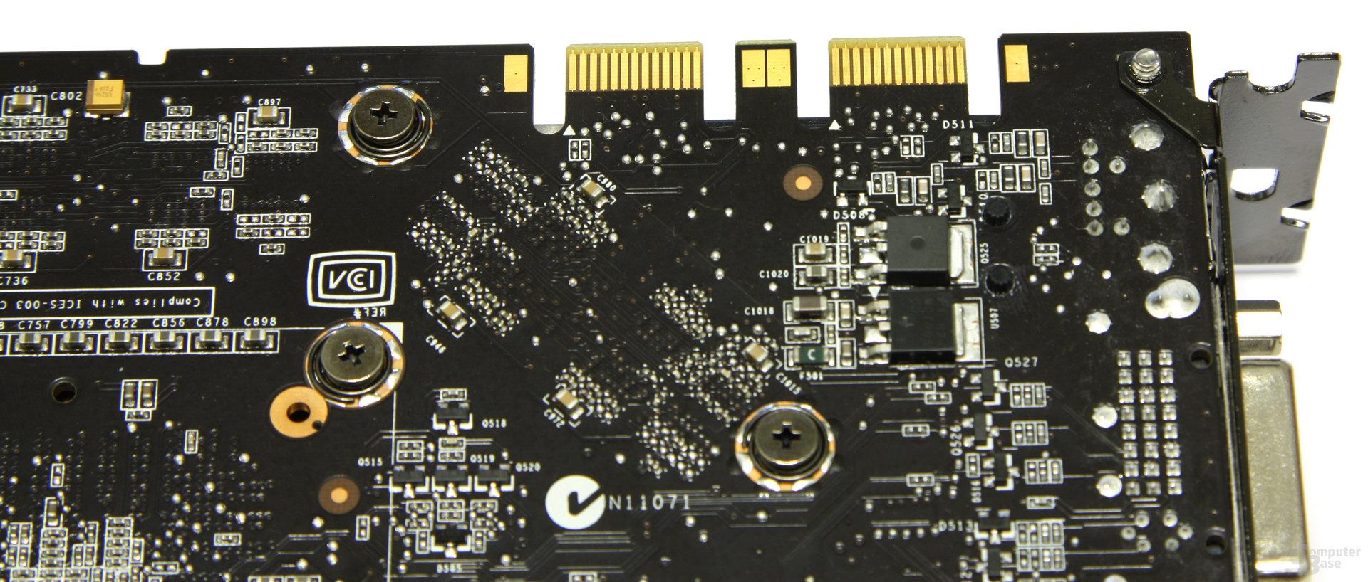 GeForce 9800 GTX+ SLI-Anschluss
