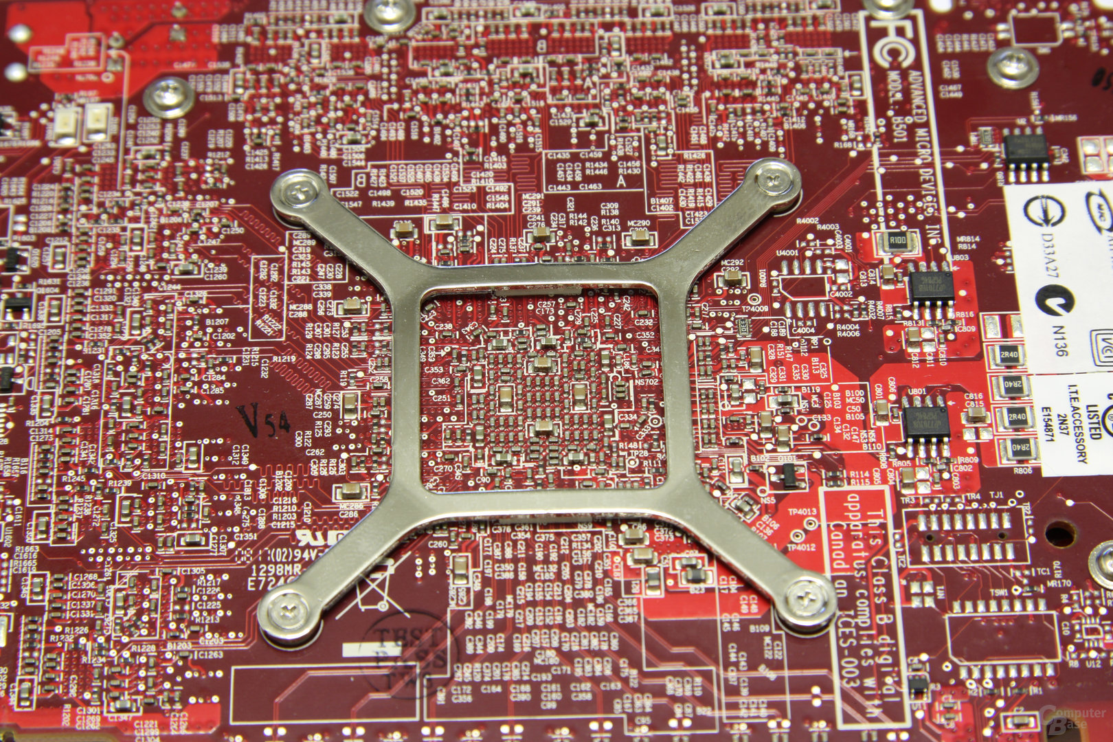Radeon HD 4850 GPU-Rückseite