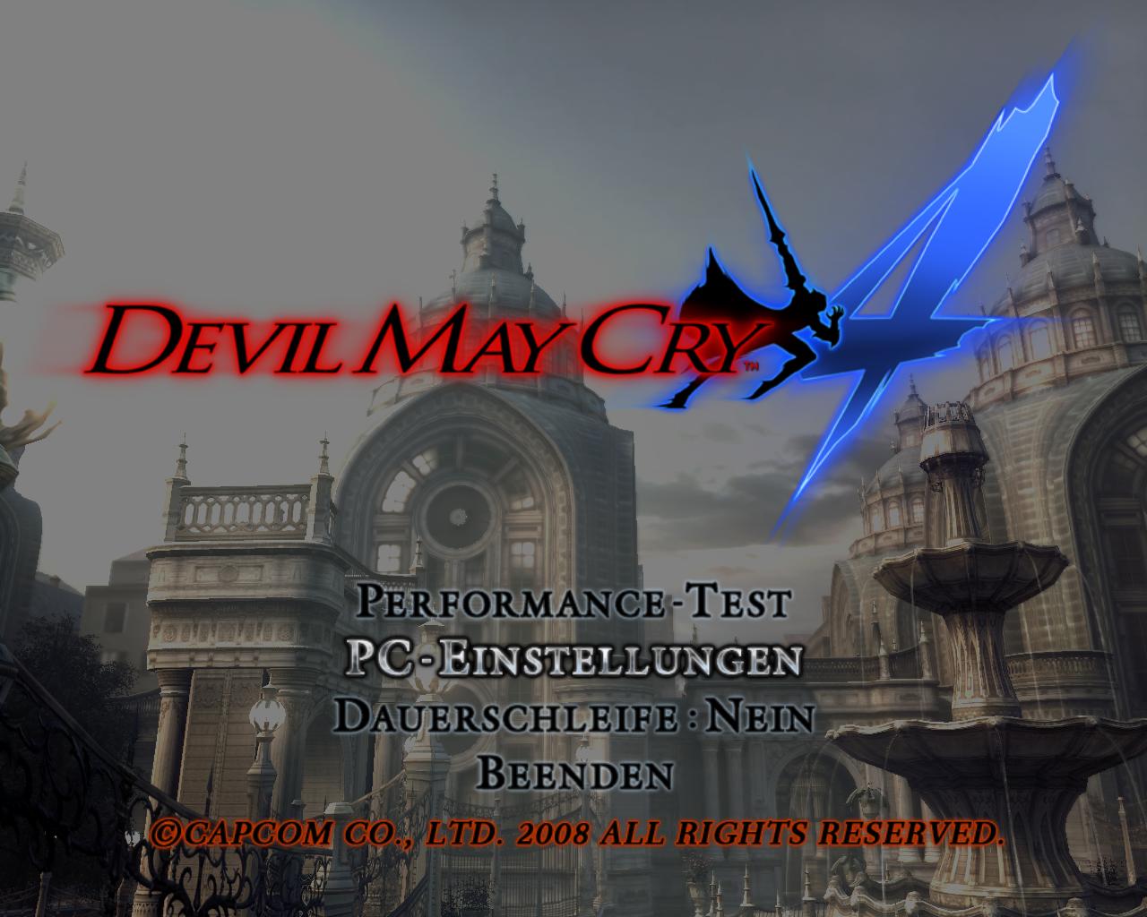 Devil May Cry 4 Benchmark